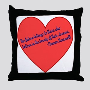 Elenor Roosevelt Dreams Throw Pillow