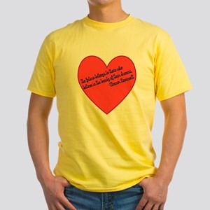 Elenor Roosevelt Dreams Yellow T-Shirt