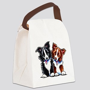 Little League Border Collies Canvas Lunch Bag