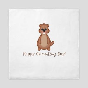 Happy Groundhog Day! Queen Duvet