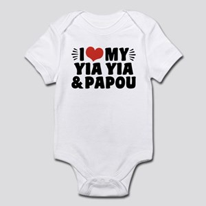 I Love My Yia Yia And Papou Baby Light Bodysuit