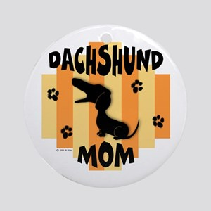 Dachshund Mom Ornament (Round)