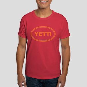YETTI EURO Oval, Sasquatch, Big Foot Dark T-Shirt