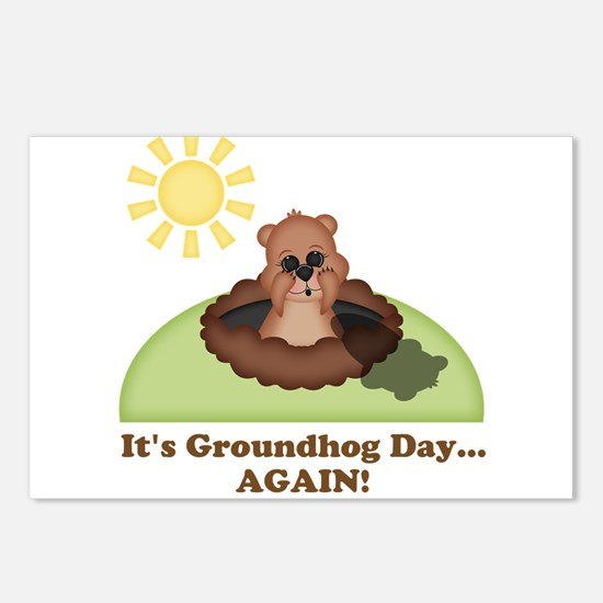 Its Groundhog Day...AGAIN! Postcards (Package of 8