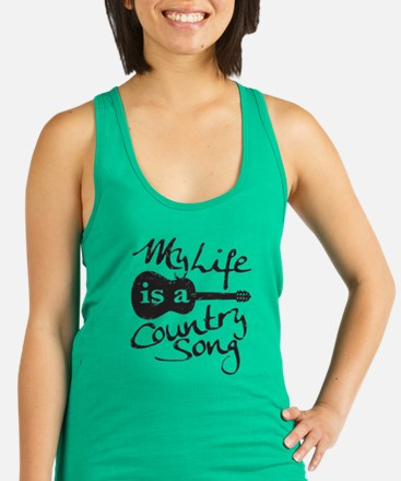 My Life Is A Country Song Racerback Tank Top