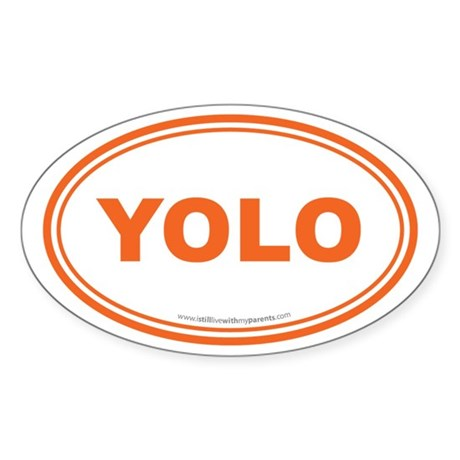 YOLO EURO Oval, You Only Live Once Sticker (Oval)