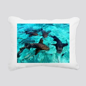 Cool Sharks Rectangular Canvas Pillow