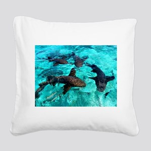 Cool Sharks Square Canvas Pillow