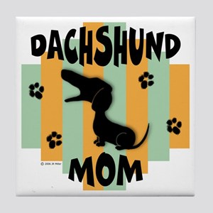 Dachshund Mom Tile Coaster