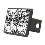Transparent flowers Hitch Cover