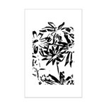 Transparent flowers Posters