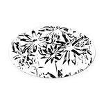 Transparent flowers Oval Car Magnet