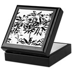 Transparent flowers Keepsake Box