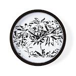Transparent flowers Wall Clock