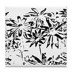 Transparent flowers Tile Coaster
