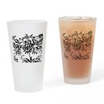 Transparent flowers Drinking Glass