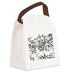 Transparent flowers Canvas Lunch Bag