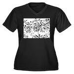 Transparent flowers Plus Size T-Shirt