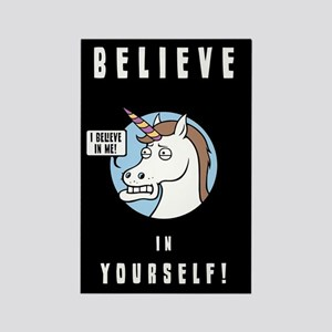 I Believe In Me Rectangle Magnet