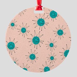 Mid-Century Starburst Round Ornament