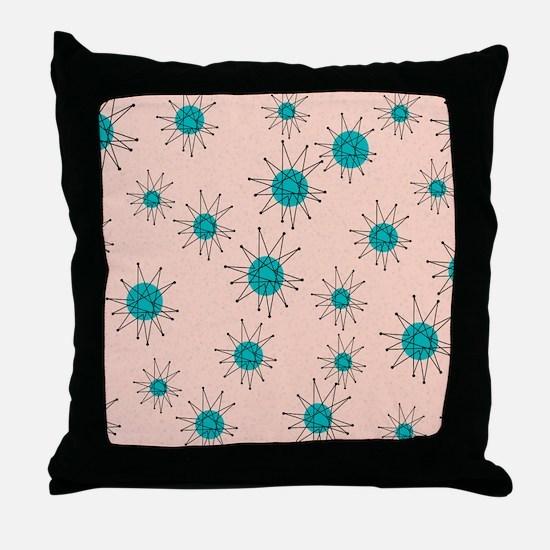 Mid-Century Starburst Throw Pillow