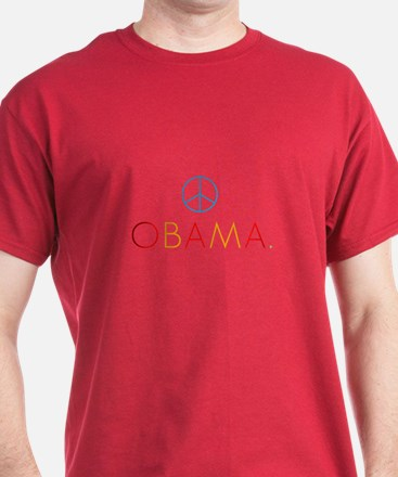 OBAMA PEACE color T-Shirt