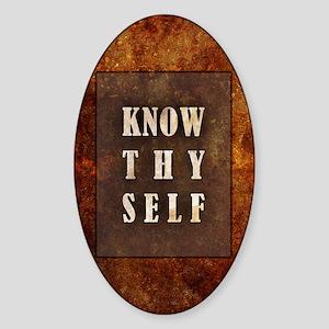 Know Thyself Sticker (Oval)