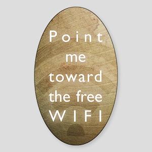 Point me toward the free WIFI Sticker (Oval)