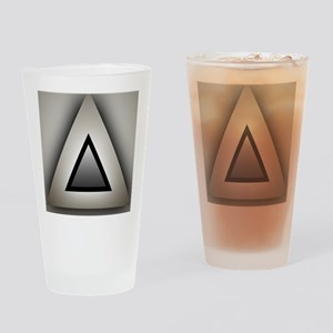 Metallic Triangle Drinking Glass