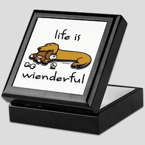 Life Is Wienderful Keepsake Box