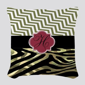 Beautiful Zebra/Chevron Print Woven Throw Pillow