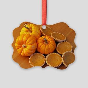 Mini pumpkin pies Picture Ornament