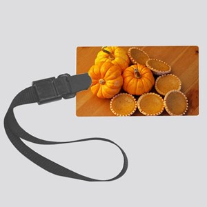 Mini pumpkin pies Large Luggage Tag