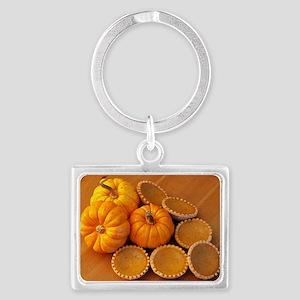 Mini pumpkin pies Landscape Keychain
