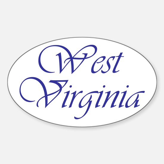 West Virginia Blue Oval Decal