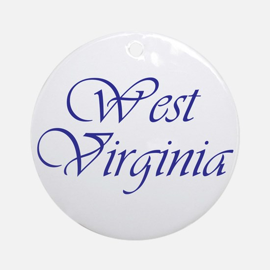 West Virginia Blue Ornament (Round)