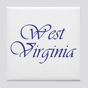 West Virginia Blue Tile Coaster