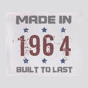 Made In 1964 Throw Blanket