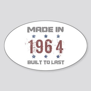 Made In 1964 Sticker (Oval)