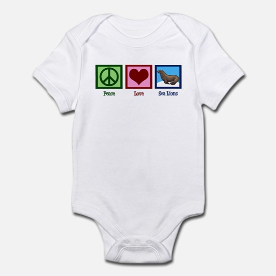 Peace Love Sea Lions Infant Bodysuit