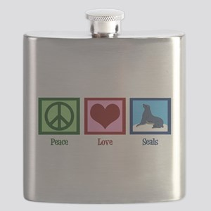 Peace Love Seals Flask