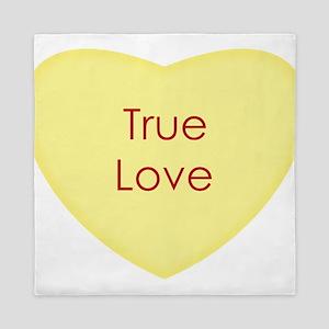 True Love Conversation Heart Queen Duvet