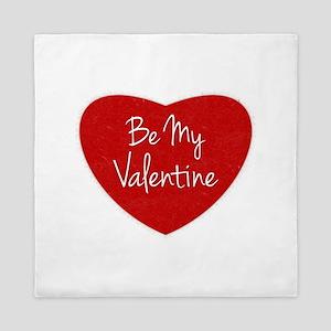 Be My Valentine Conversation Heart Queen Duvet