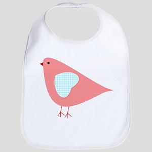 Pink Lovebird Bib