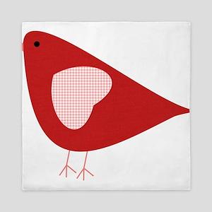 Red Lovebird Queen Duvet