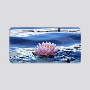 Lovely Lotus Aluminum License Plate