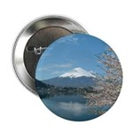 "Mt.Fuji and Sakura 2.25"" Button (100 pack)"