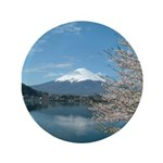 Mt. Fuji And Sakura Button