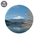 Mt.Fuji And Sakura Japan Button (10 Pack)