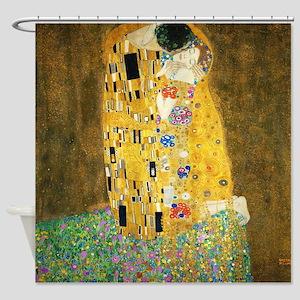 Gustav Klimt Kiss Shower Curtain